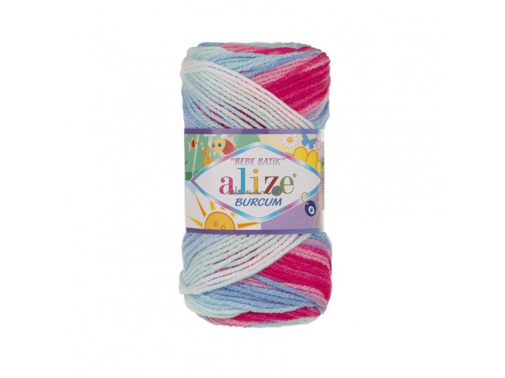 Burkum bebe batik 2162 modro-růžovo-bílá