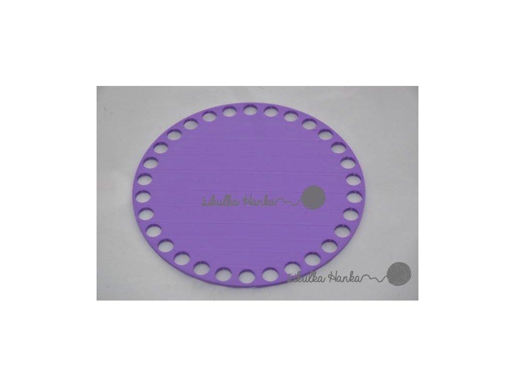 Víko/dno na košík 14,5cm - plné lila