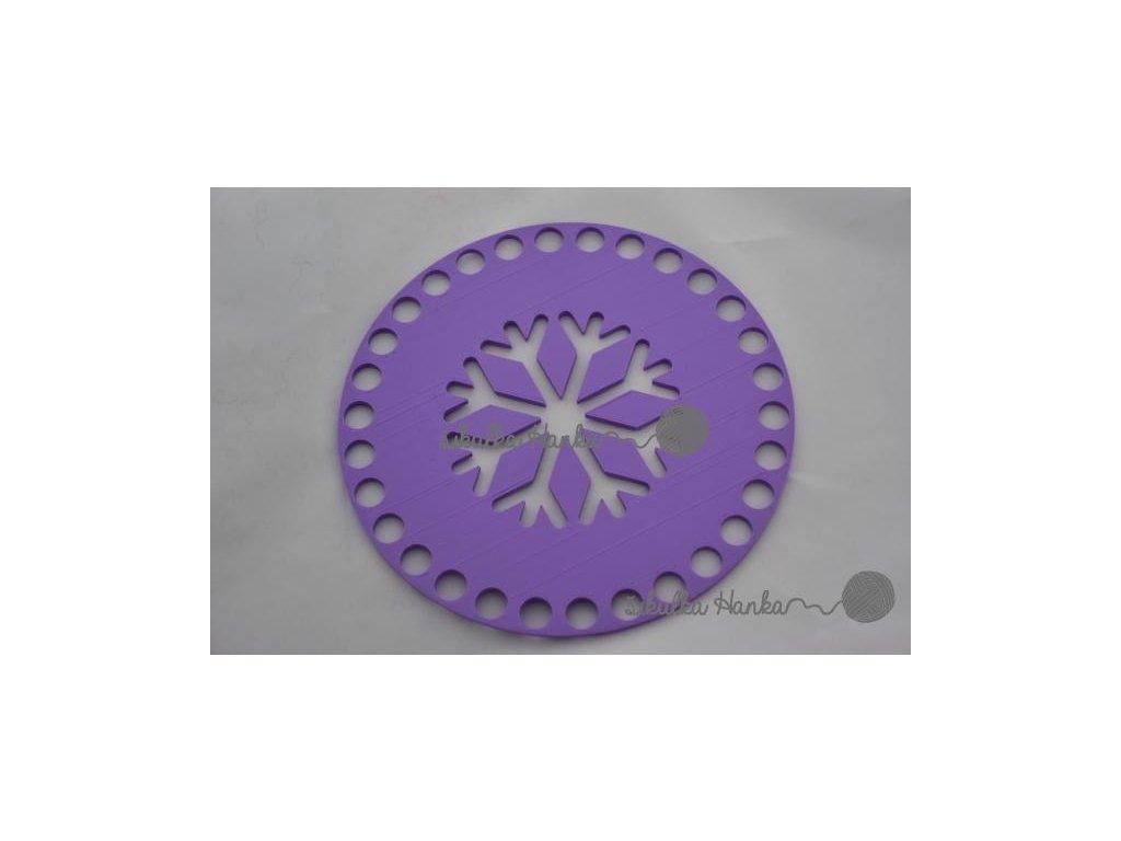 Víko/dno na košík 14,5cm - vločka lila