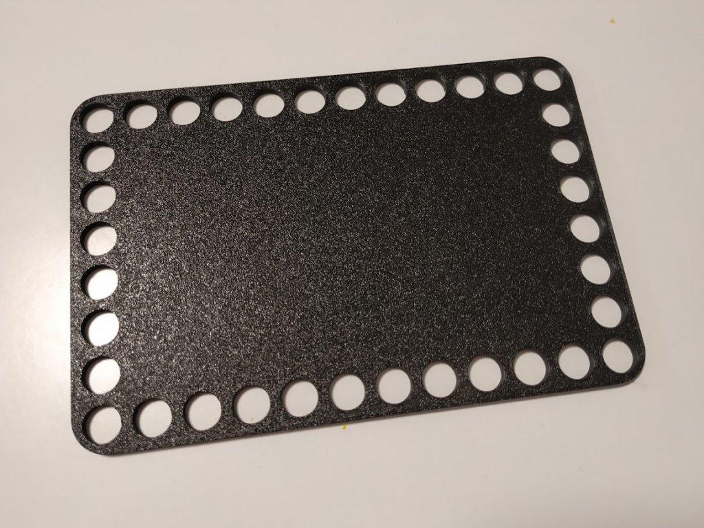 Dno na košík 10,2x16cm - plné černá