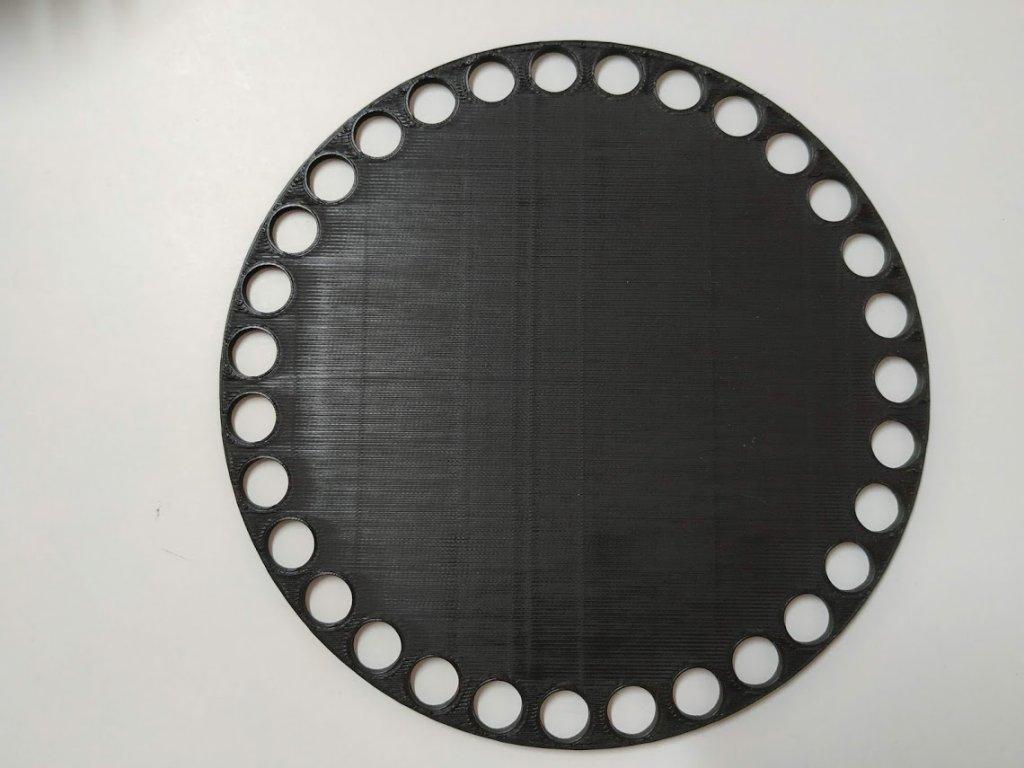 Víko/dno na košík 14,5cm - plné černá