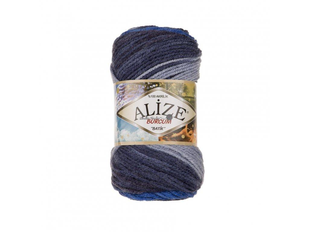 Příze Alize Burkum batik 4761 modro-šedá