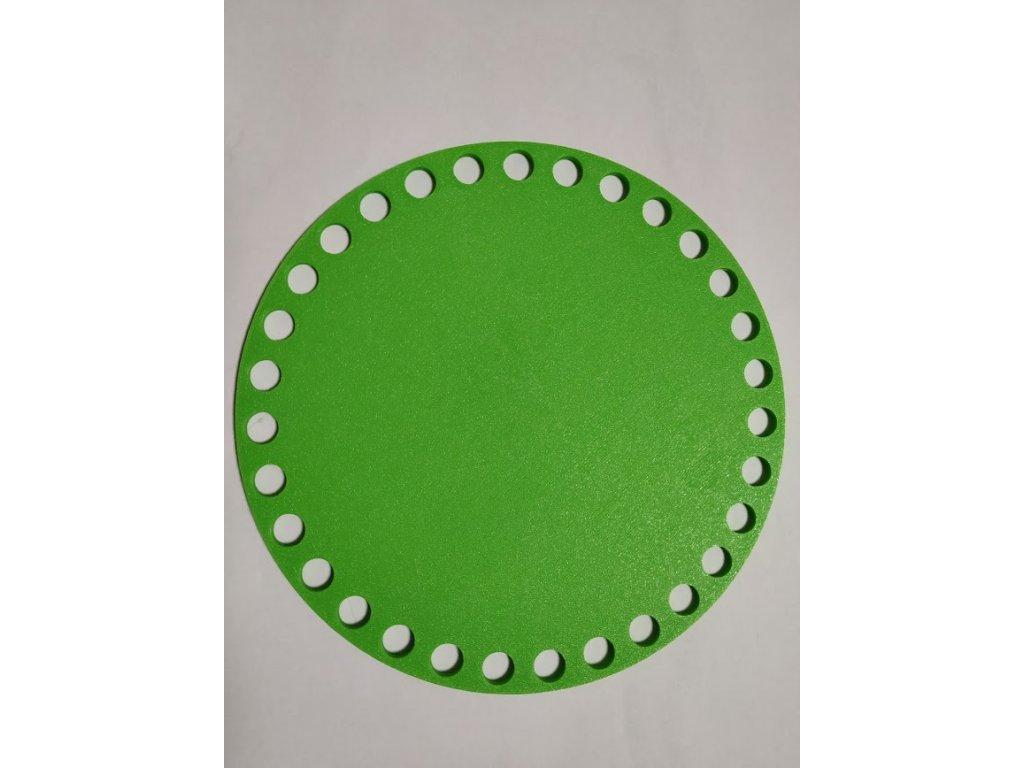 Víko/dno na košík 14,5cm - plné jarní zelená