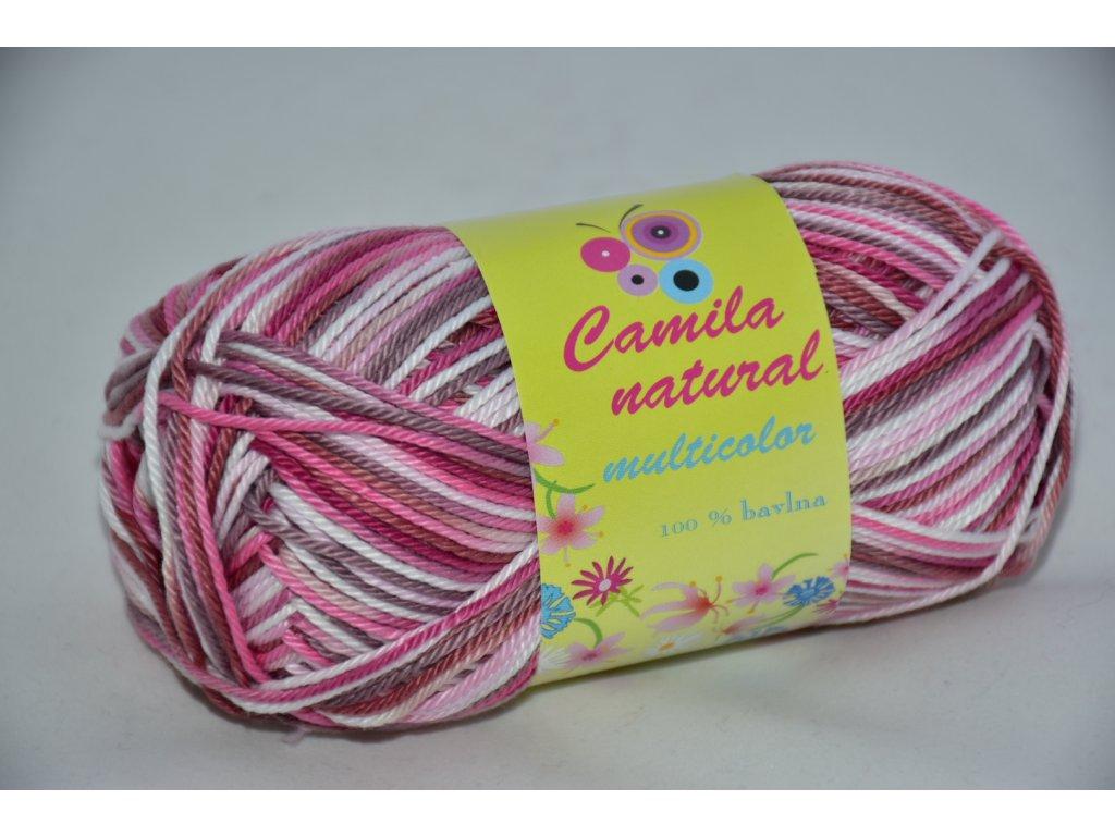 Camila natural multicolor 9074 růžovo-hnědá