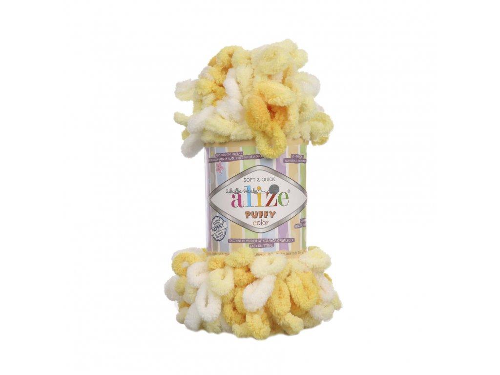 Puffy color 5921 žluto-bílá