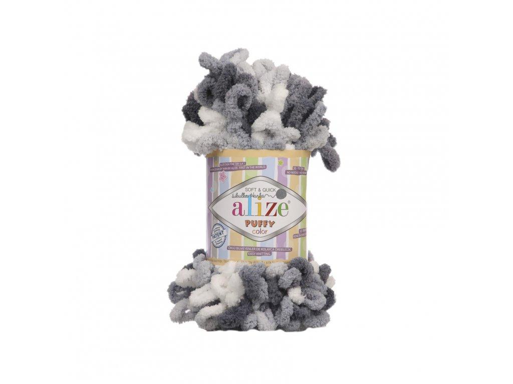 Puffy color 5925 černo-bílá