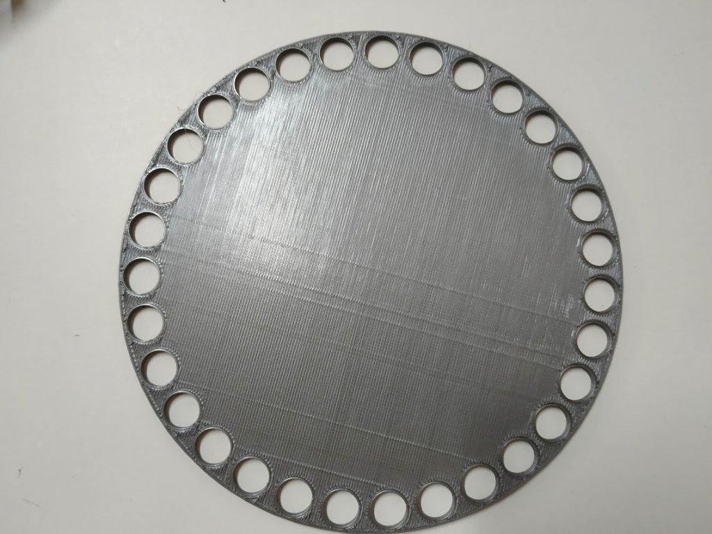 Víko/dno na košík 14,5cm - plné stříbrno-šedá