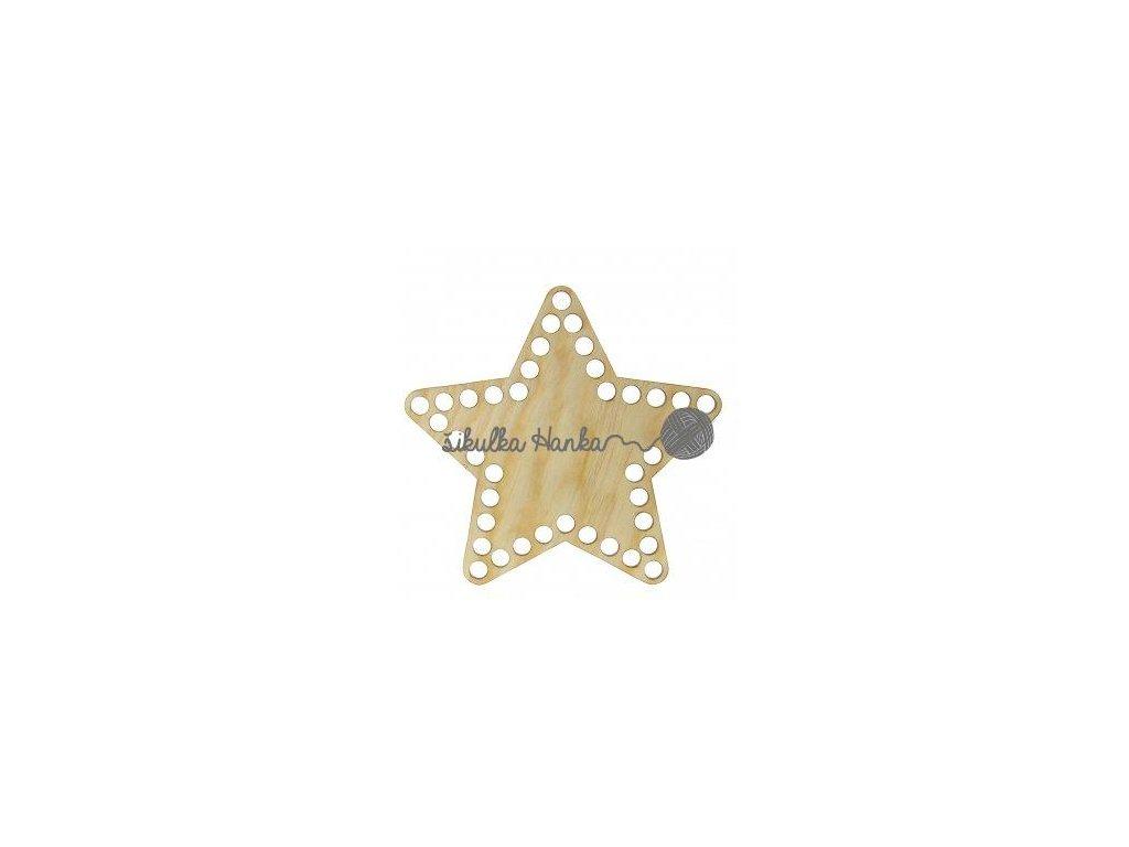Dno na košík 15cm hvězda borovice