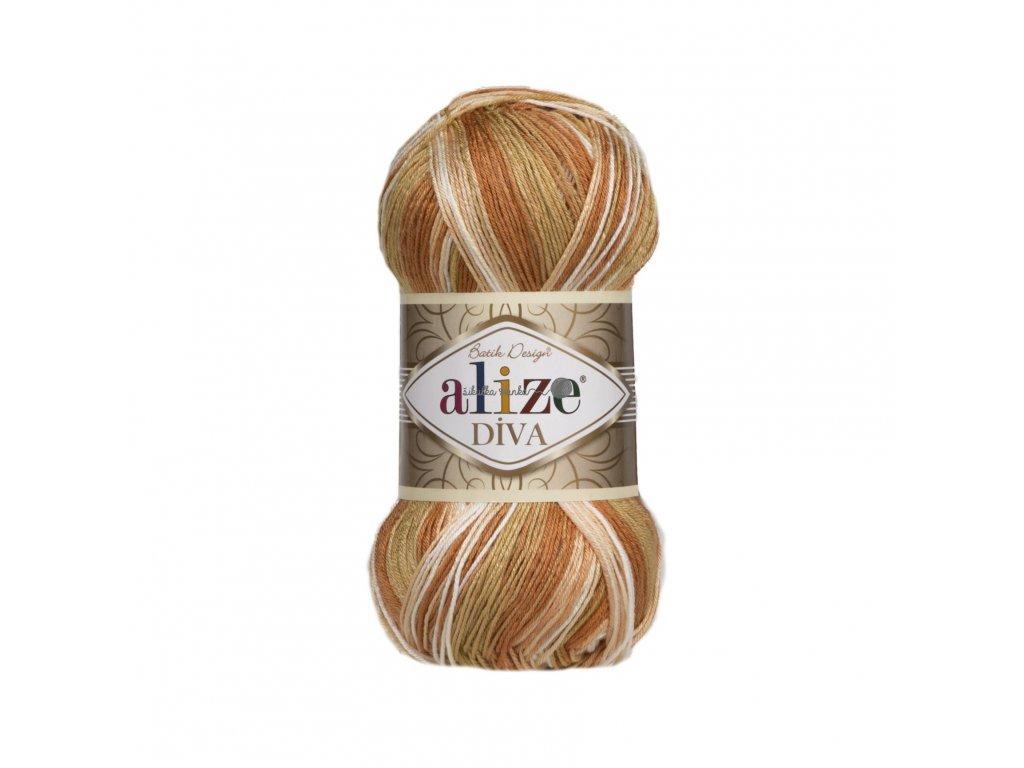Příze Alize Diva batik 7112