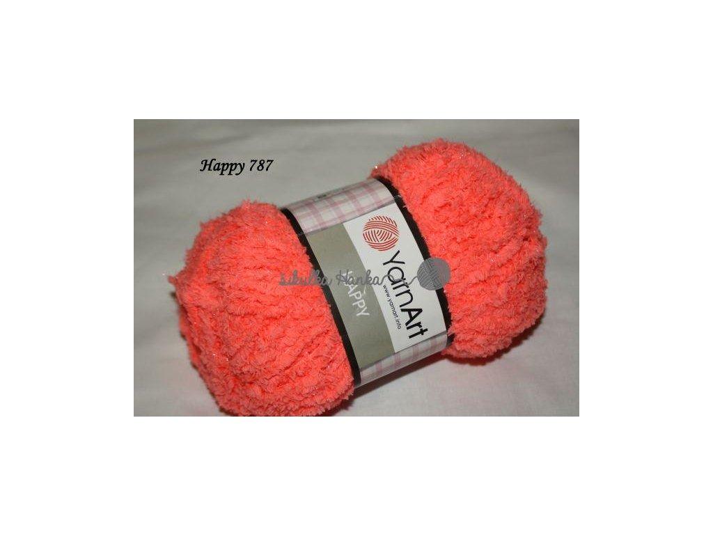 Příze Yarn Art Happy 787 zářivá oranžová