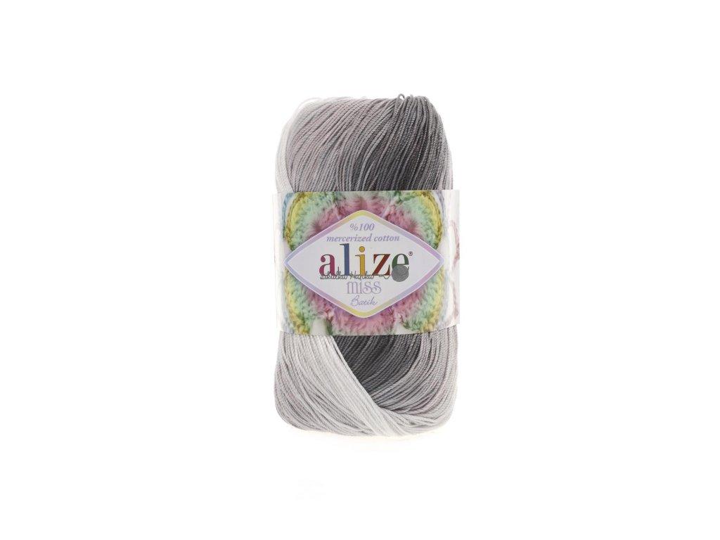 Alize Miss batik 3722 černo-bílá