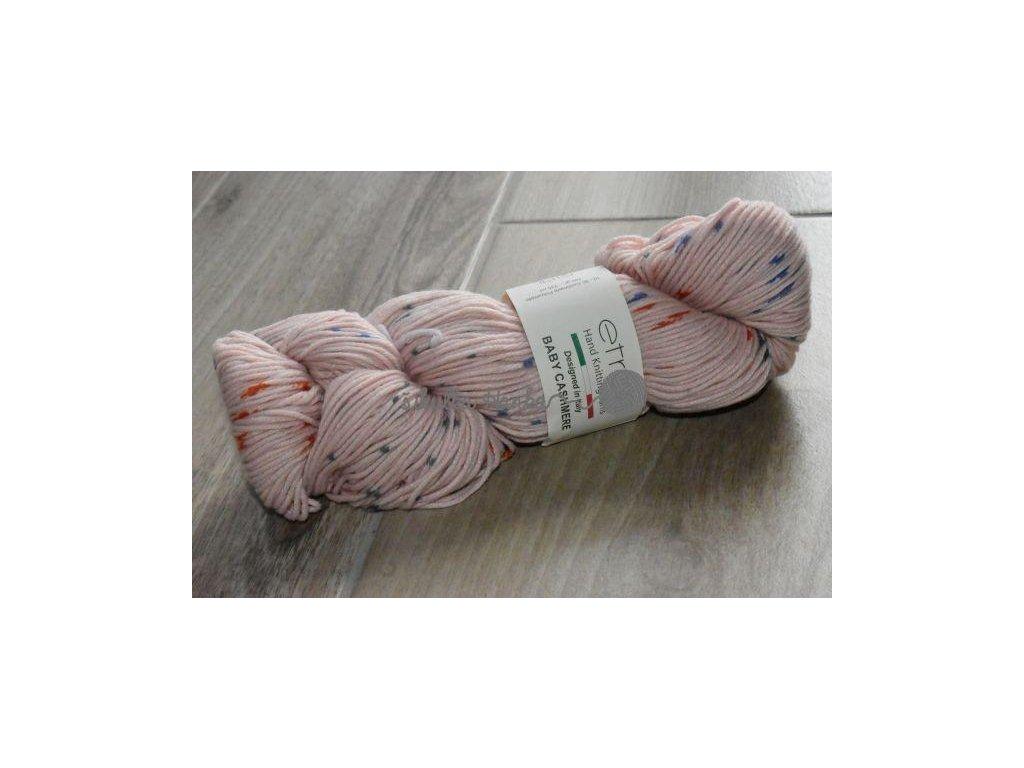 Baby casmere PA005 starorůžová s barevnými puntíky