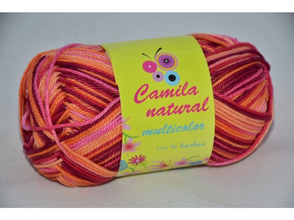 Camila natural multicolor 9190 bordo-oranžovo-růžová