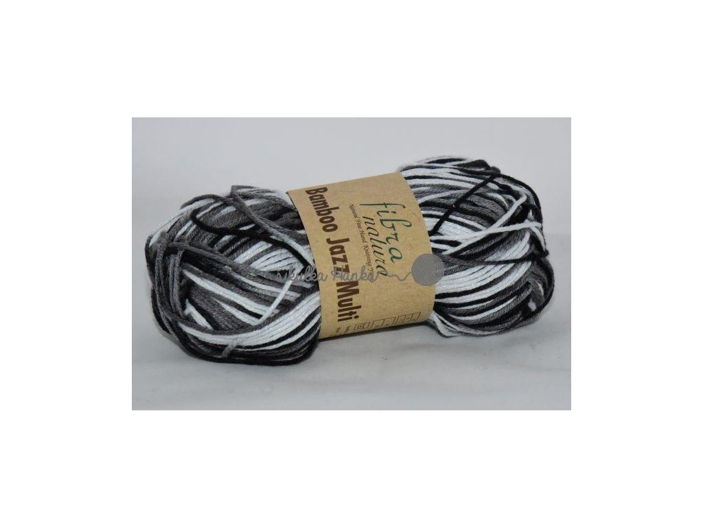 Bamboo jazz multi 309 černo-bílý melír