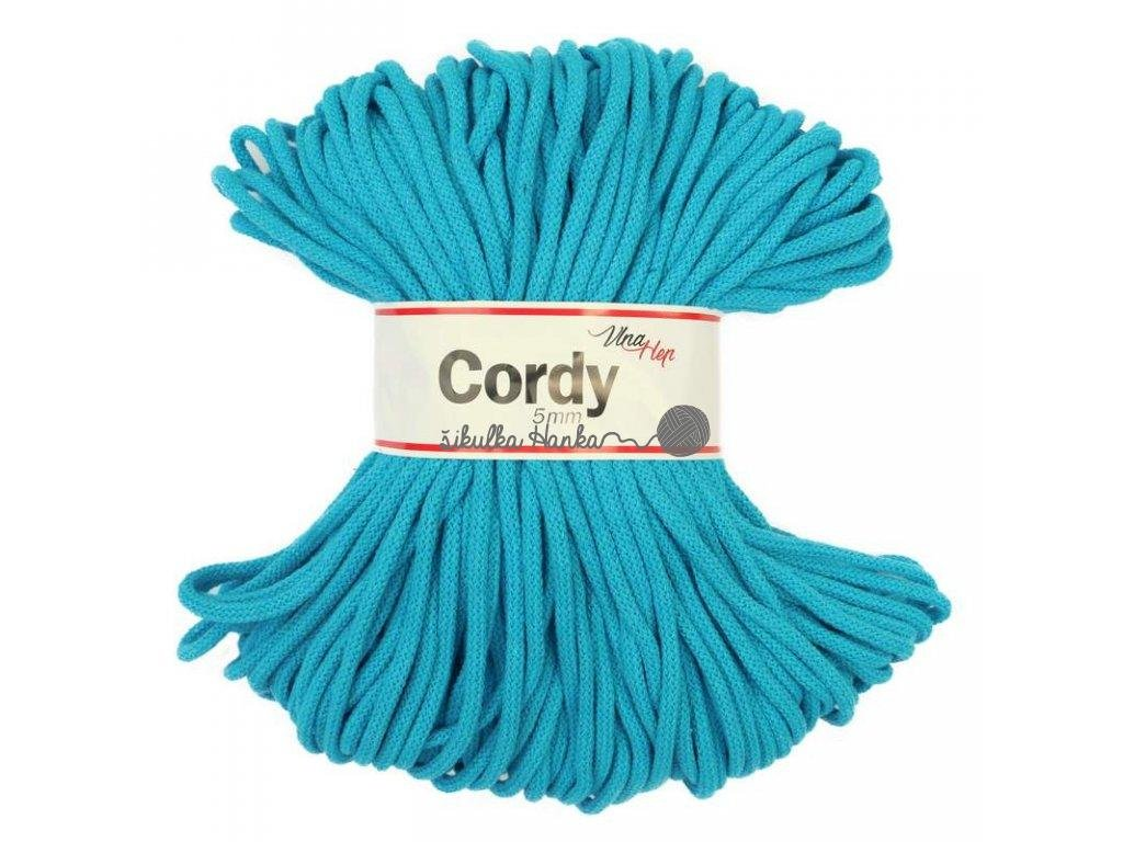 Cordy šňůry - tyrkysová