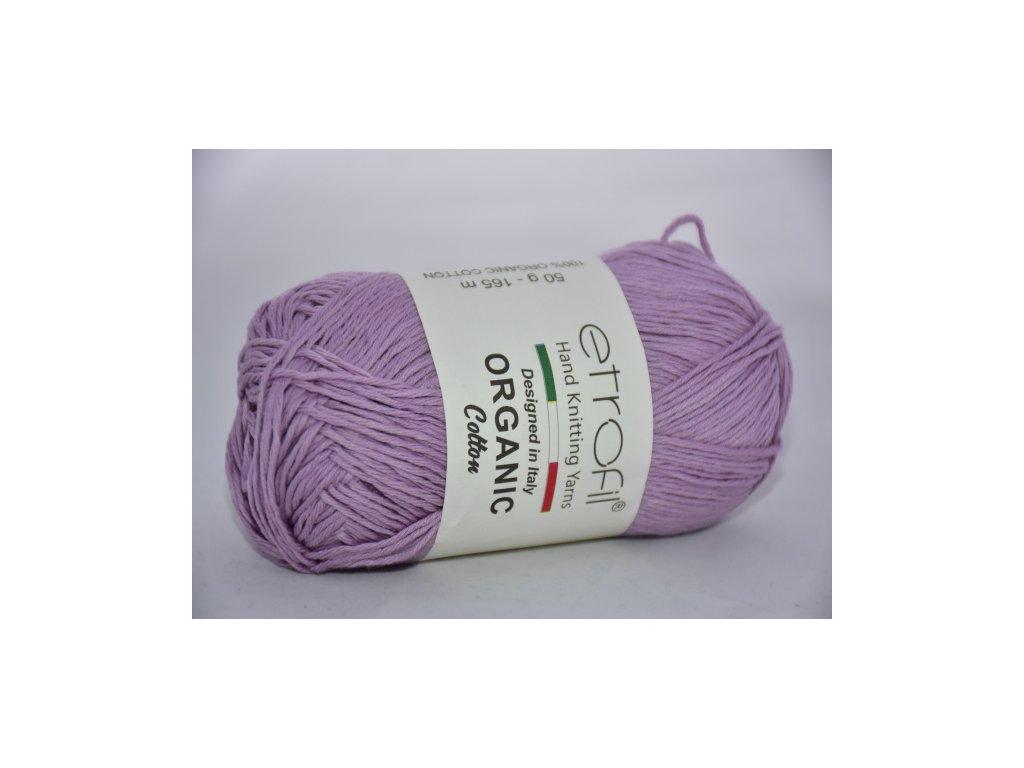Organic cotton EB002 světlá lila