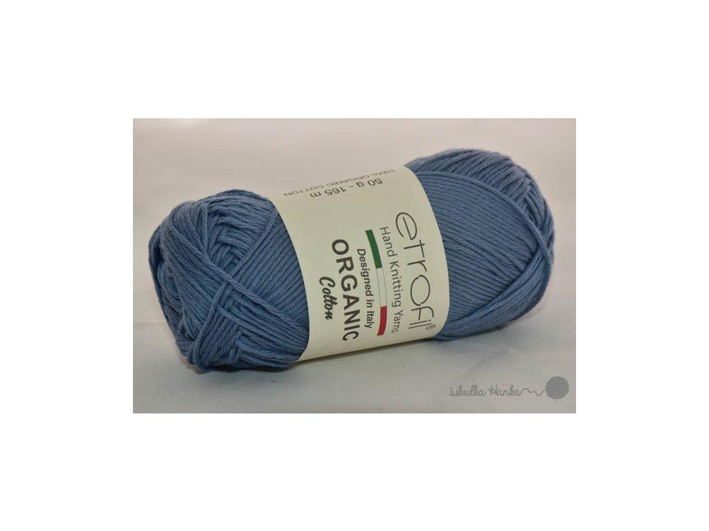 Organic cotton EB024 modrá