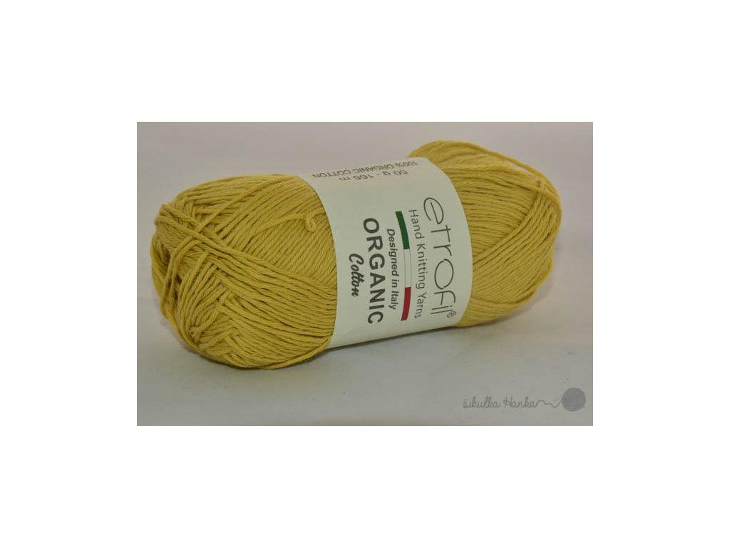 Organic cotton EB028 žlutá