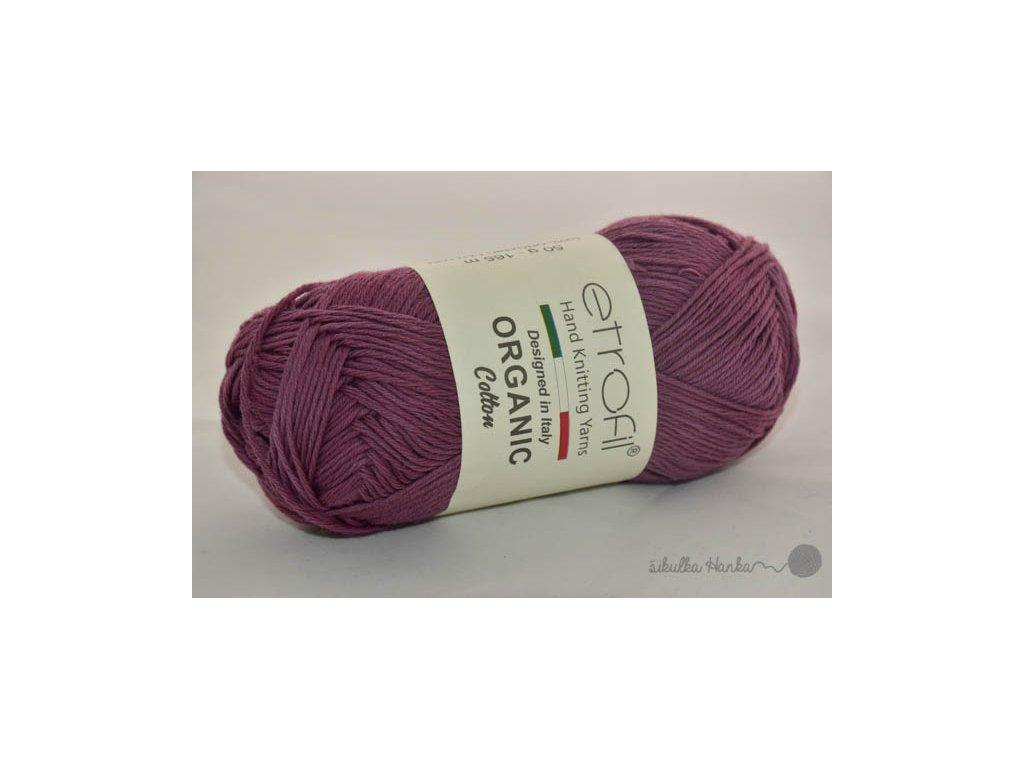 Organic cotton EB034 tmavá lila