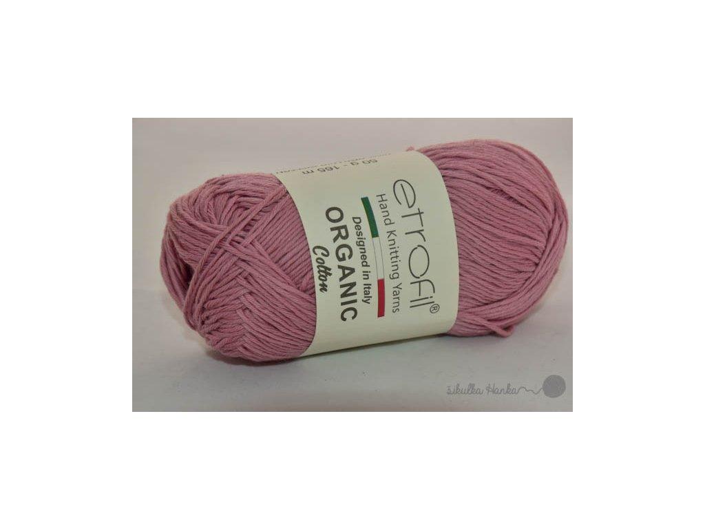 Organic cotton EB035 tmavě růžová