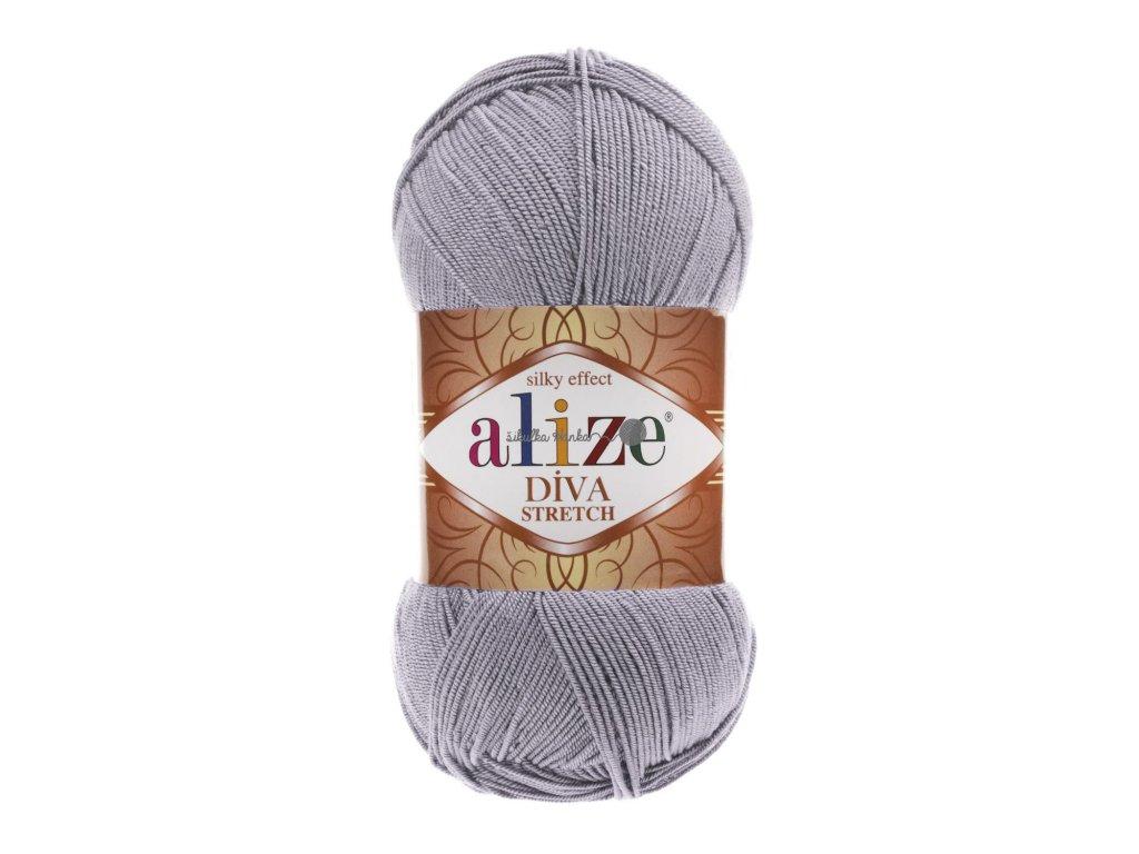 Alize Diva stretch 253 šedá