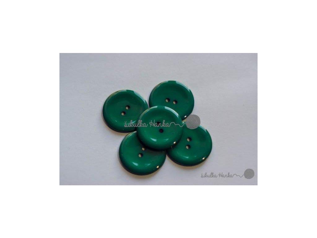 Knoflík 25mm lesní zelená II. jakost