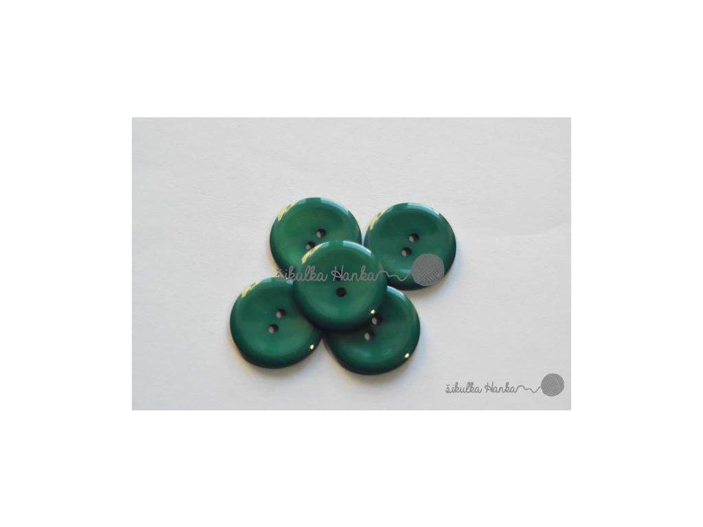Knoflík 20mm lesní zelená