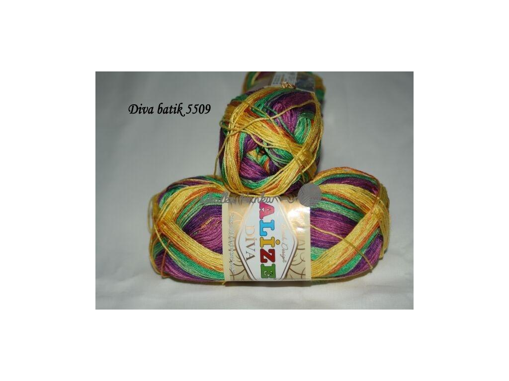 Příze Alize Diva batik 5509