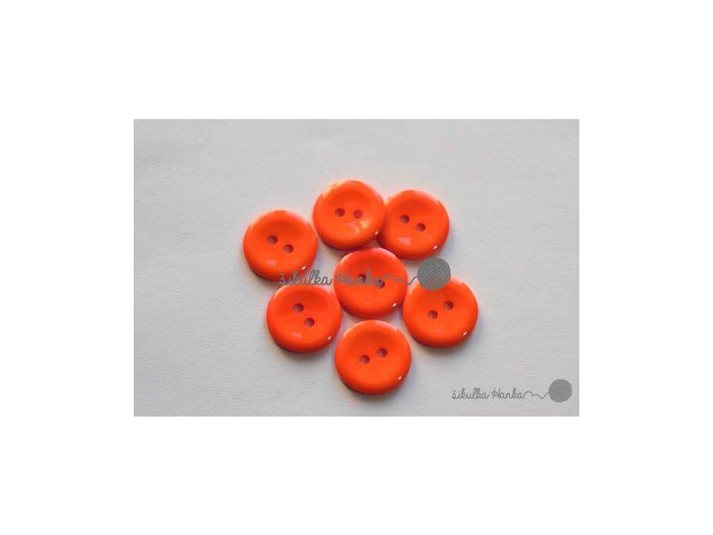 Knoflík 15mm oranžová