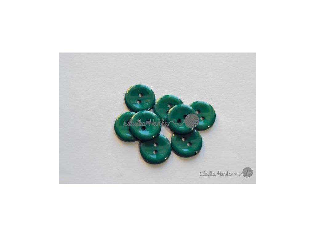 Knoflík 15mm lesní zelená