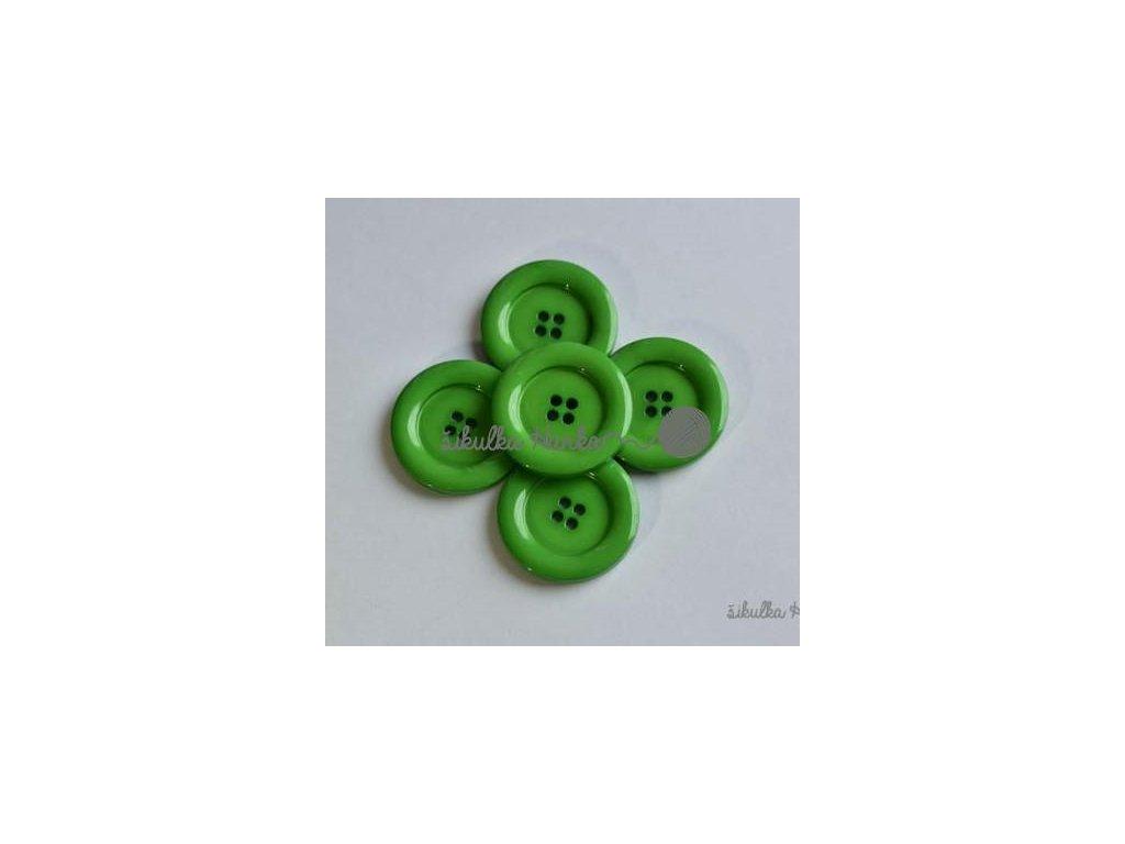 Knoflík 30mm zelená