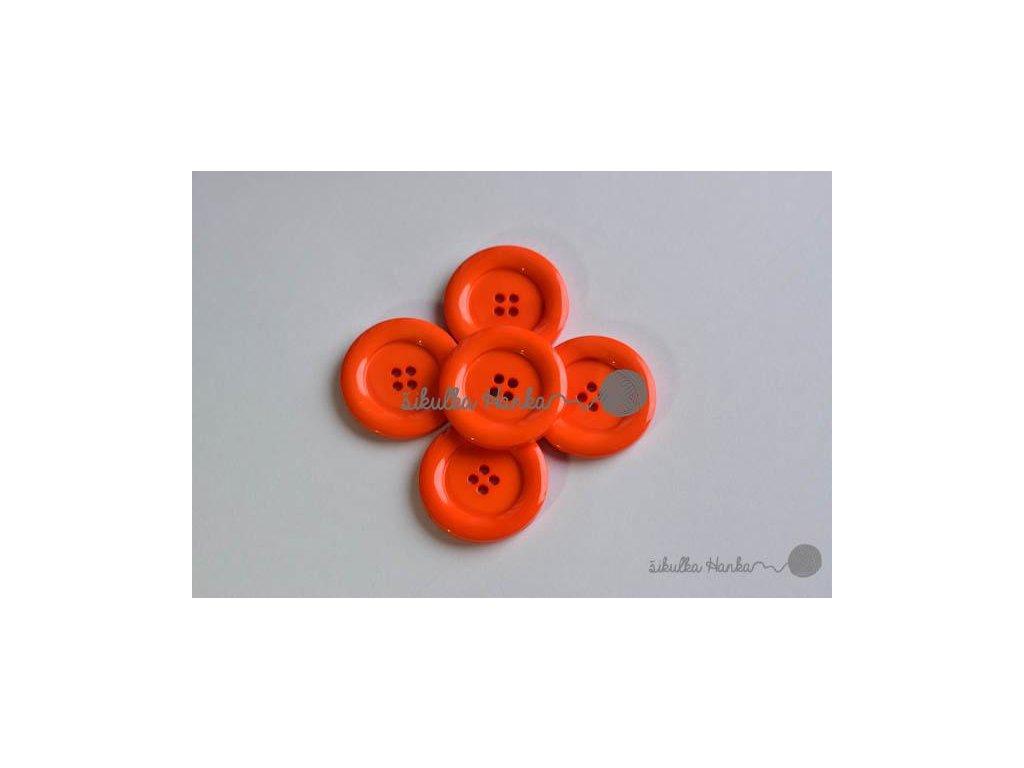 Knoflík 30mm oranžová