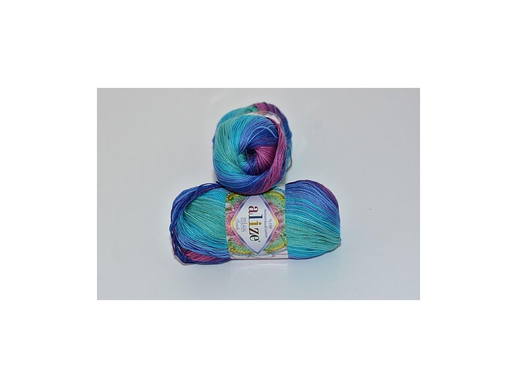 Alize Miss batik 3705 růžovo-lila-světlá