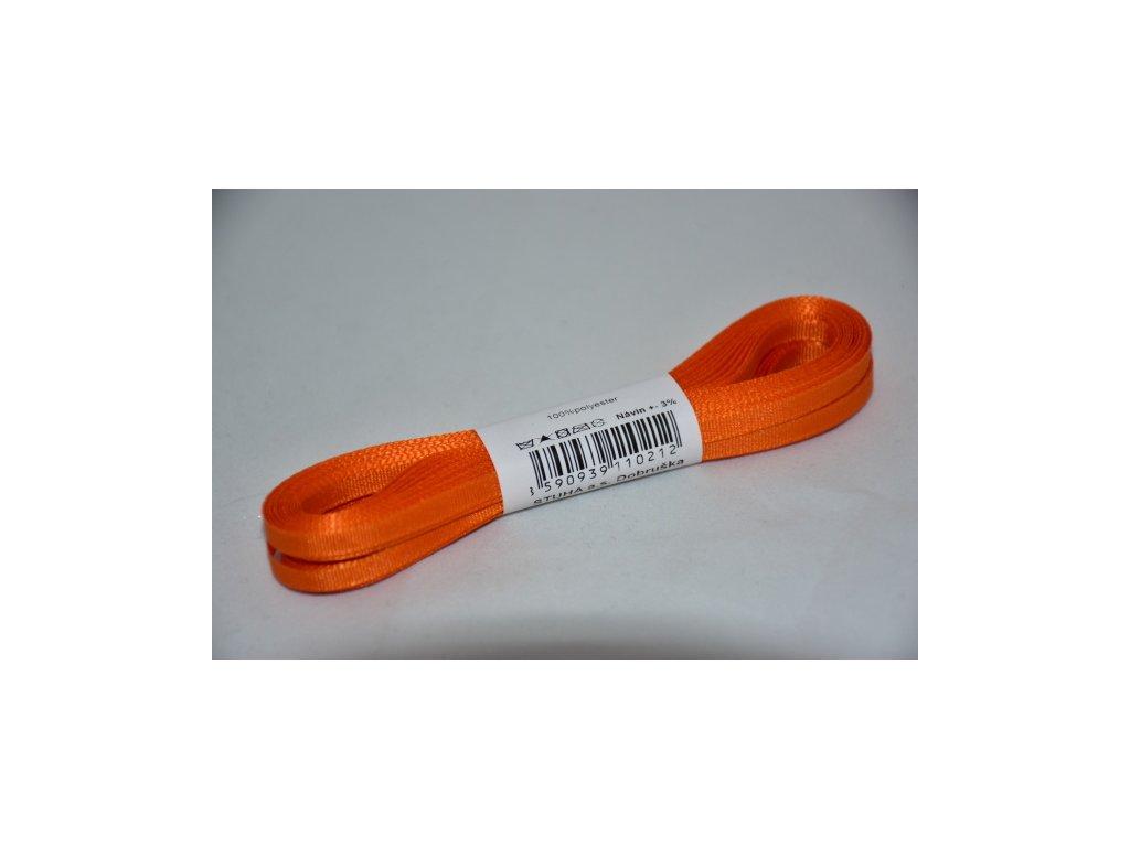 Stuha taftová 4mm 617 oranžová