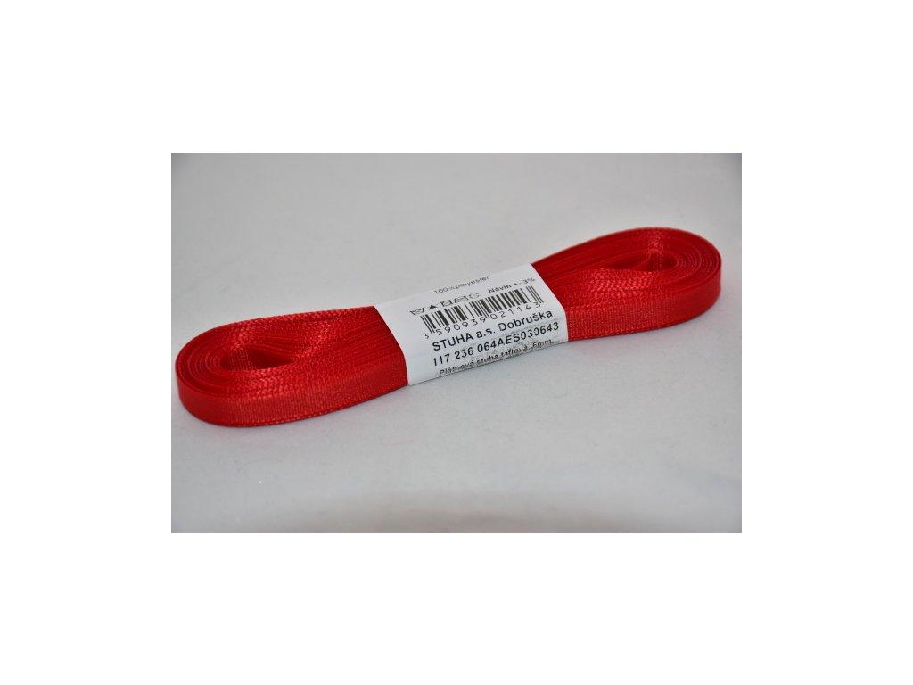 Stuha taftová 6mm 643 červená