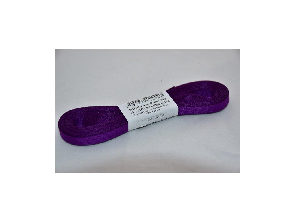 Stuha taftová 6mm 510 tmavě fialová