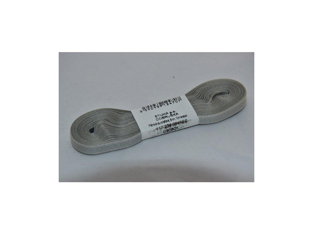 Stuha taftová 6mm 820 šedá