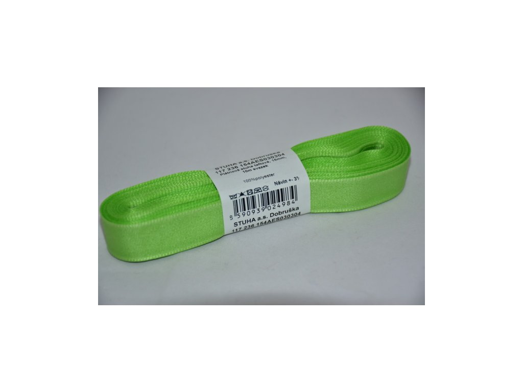 Stuha taftová 15mm 304 zelenožlutá