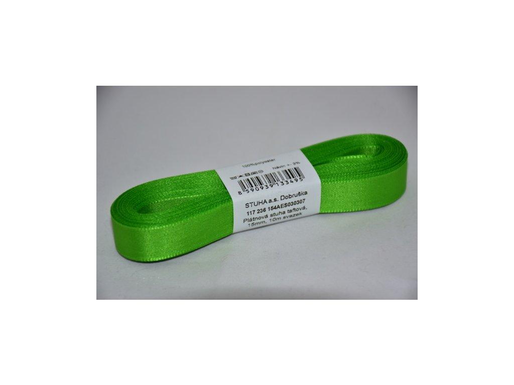 Stuha taftová 15mm 307 jarní zelená