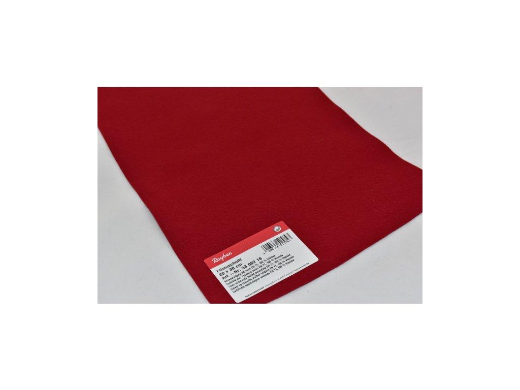Filc tmavá červená 5300218