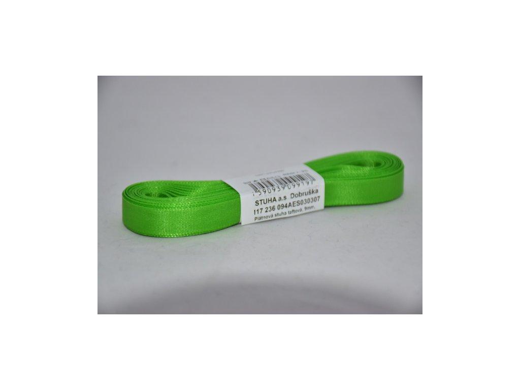 Stuha taftová 9mm 307 jarní zelená