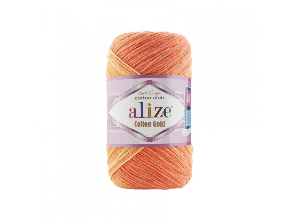 Alize Cotton gold batik 3299 modrý melír