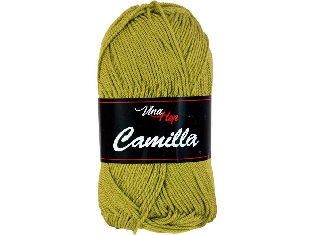 Příze Camilla 8152 zelenožlutá
