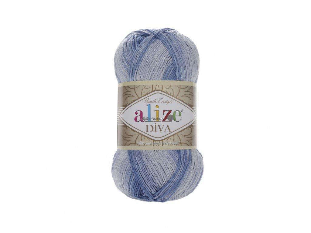 Příze Alize Diva batik 3282 jeansový melír