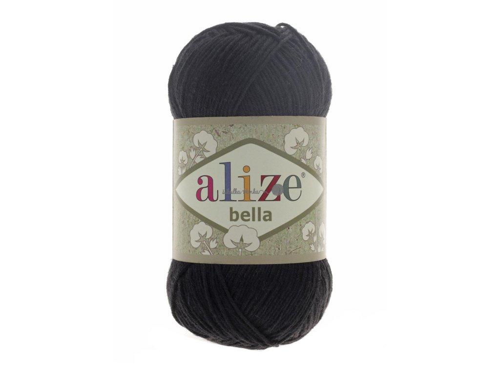 Příze Alize Bella 60 černá š. 343230