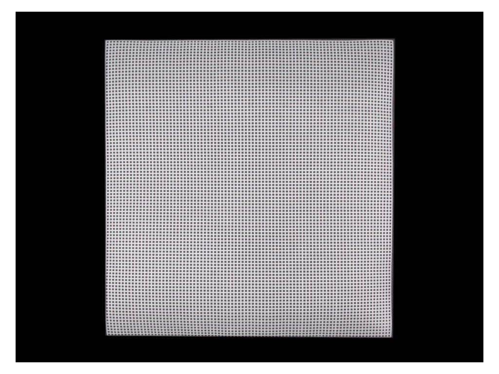 Plastová vyšívací mřížka 37x41,5 cm smetanová