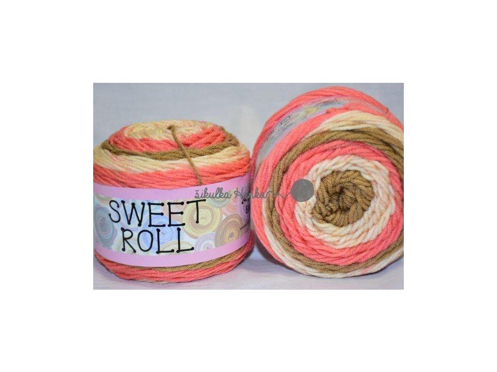 Sweet roll 15 lososovo-hnědo-světlá