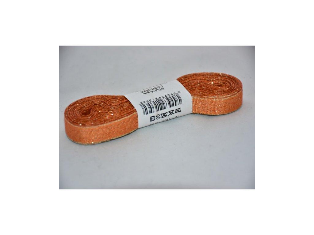 Stuha adjustační - torsade 10mm oranžová
