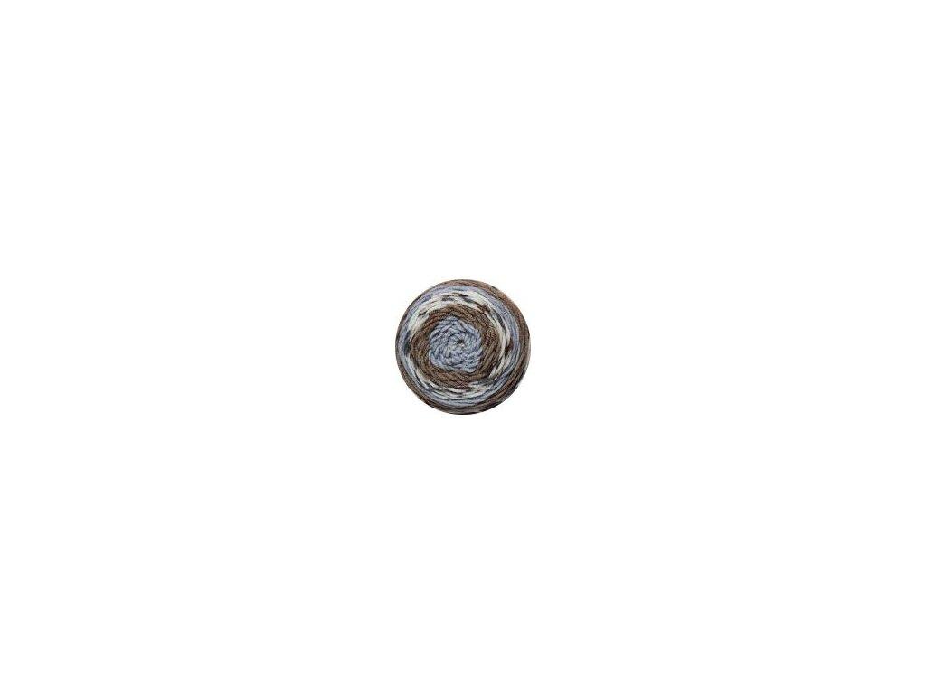 Sweet roll 33 hnědo-modrá melange