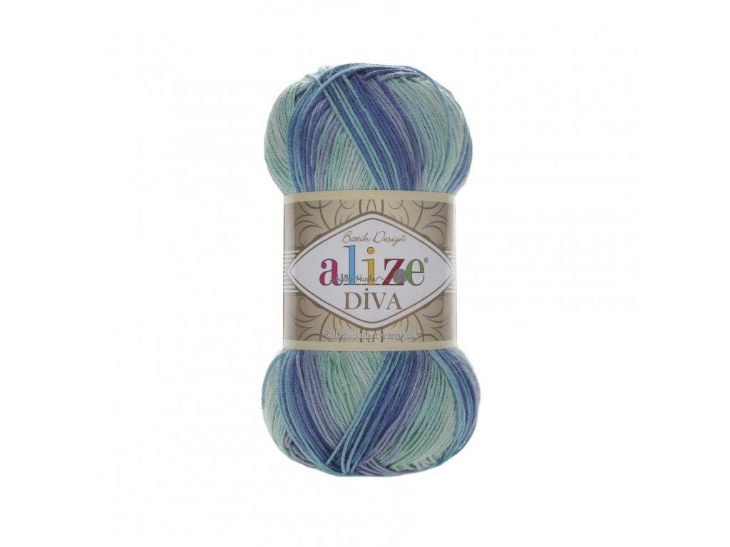 Příze Alize Diva batik 1767 tyrkysovo-modrá